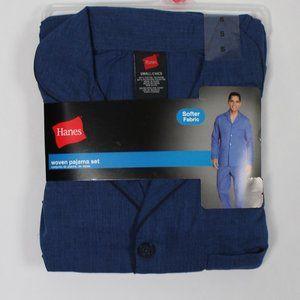 #0215     Hanes Woven  Men Pajama Set